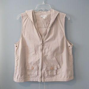 Christopher & Banks Hooded Vest Size L